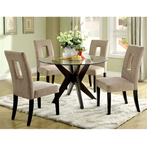 round glass dining room table sets glass top dining tables homesfeed