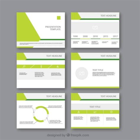 free templates modern business presentation template vector free