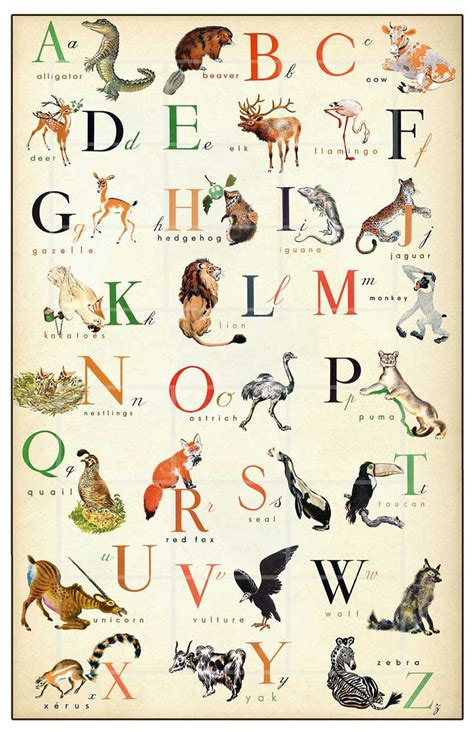 a b c to z in french 41 best images about children s alphabet posters on