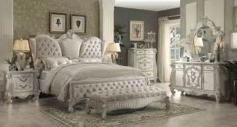 Versailles Bedroom acme 21124ck versailles 4pcs ivory bone white cal king