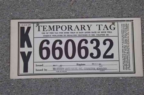 5201 Nos 1976 Kentucky Motorcycle Mc License Plate 4 Temporary Tag Template