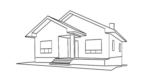 home draw home construction high quality animation of a house being built last 380 frames looped stock