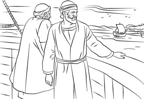 paul  barnabas missionary journey coloring page