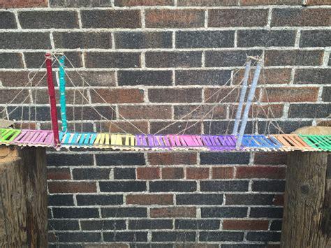 Popsicle Stick Suspension Bridge Popsicle Stick Suspension Bridges Www Imgkid Com The