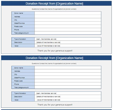 donation receipt template vista print donation receipt template free word templates