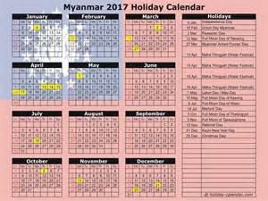 Lithuania Kalendar 2018 Myanmar 2017 2018 Calendar