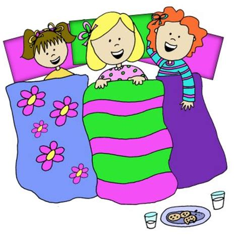 Sleepover Clipart invitations for sleepover