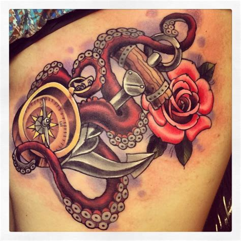 traditional octopus tattoo neo traditional anchor designs search