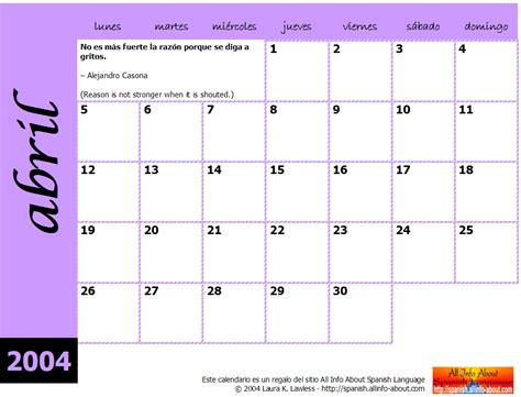 printable monthly calendar in spanish search results for free weekly calendar print out