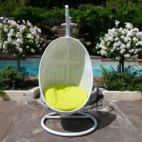 white rattan swing chair white neon yellow egg shape wicker rattan swing bed chair