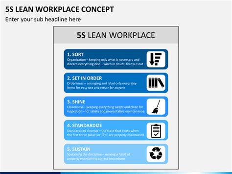 5s Lean Workplace Concept Powerpoint Template Sketchbubble 5s Presentations