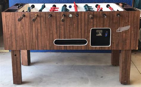 classic vintage dynamo coin operated foosball soccer table