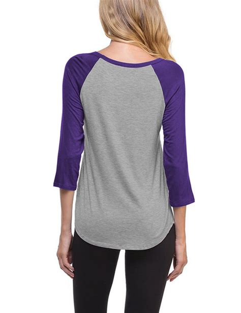 V Neck 3 4 Sleeve T Shirt us womens fashion v neck raglan 3 4 sleeve baseball t