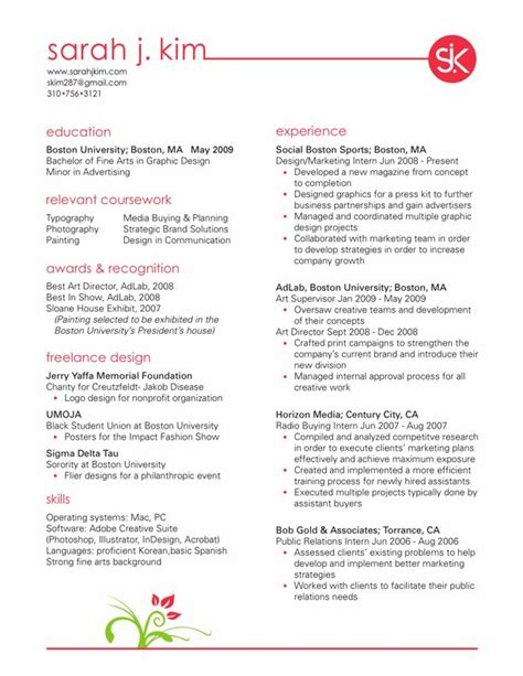 designer resume objective resumes design