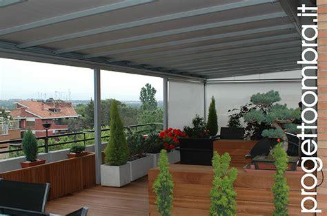 pergole in alluminio per terrazzi pergolati tecnici amovibili a tenuta neve con tessuto ad