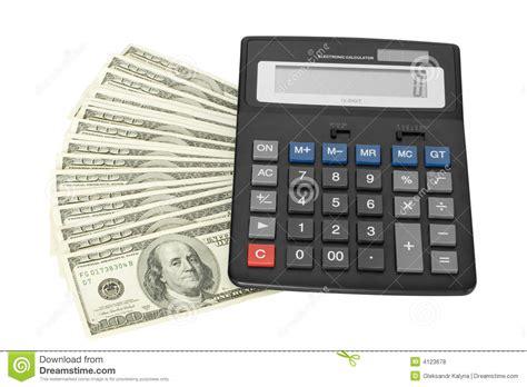 calculator dollar money with calculator royalty free stock photos image