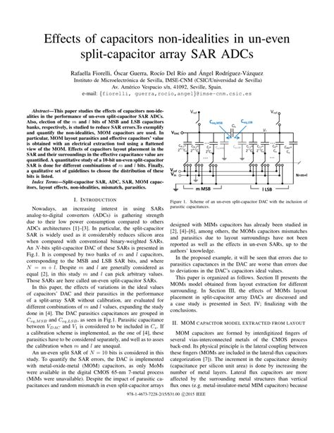 sar adc capacitor array layout effects of capacitors non idealities in un even split capacitor array sar adcs pdf