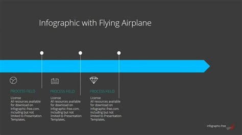 Free Powerpoint Template With Animated Flying Airplane Infographicon Gif Templates For Powerpoint