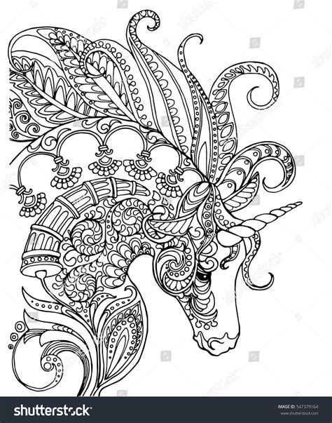 Colouring In Pages Unicornl