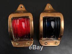 boat navigation lights set vintage bronze marine boat yacht navigation lights a fine set