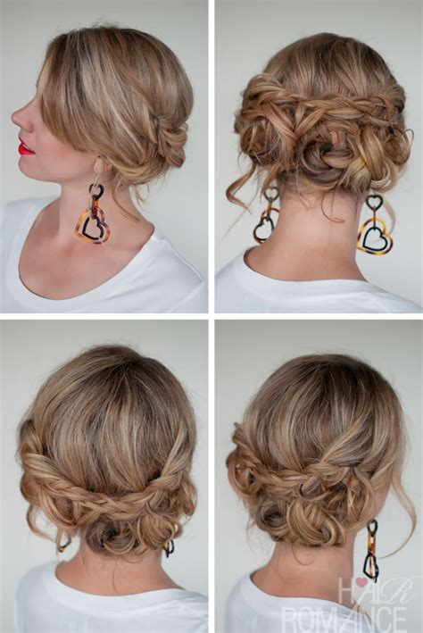 easy hairstyles casual casual messy braided updo the best braided updos for