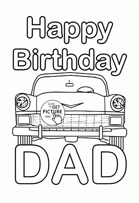 printable coloring pages for dads 150 best birthday coloring pages images on pinterest