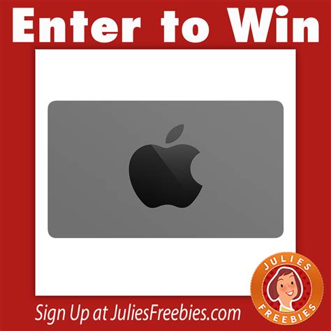 Apple Gift Card Giveaway - win a 200 00 apple gift card julie s freebies
