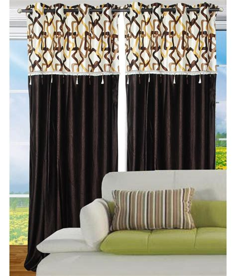 home decor curtains fantasy home decor set of 2 door eyelet curtains buy