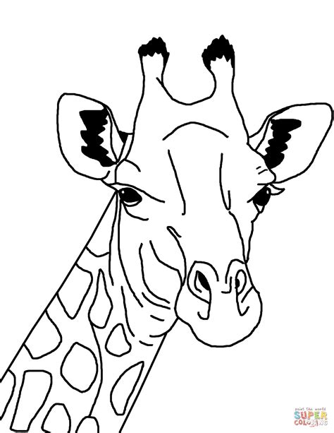 giraffe head coloring pages giraffe face coloring page free printable coloring pages