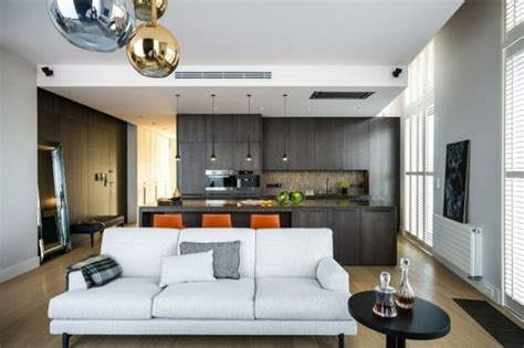 le modern wohnzimmer cuisine ouverte sur le salon 25 id 233 es modernes et pratiques