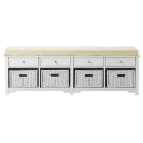 60 inch entryway bench home decorators collection oxford 60 in w ivory fabric