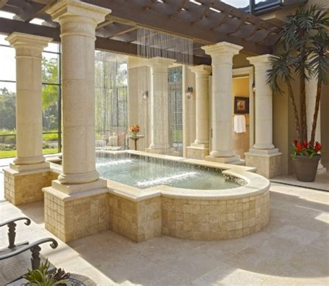 24 awesome home indoor pool design with slide to make your