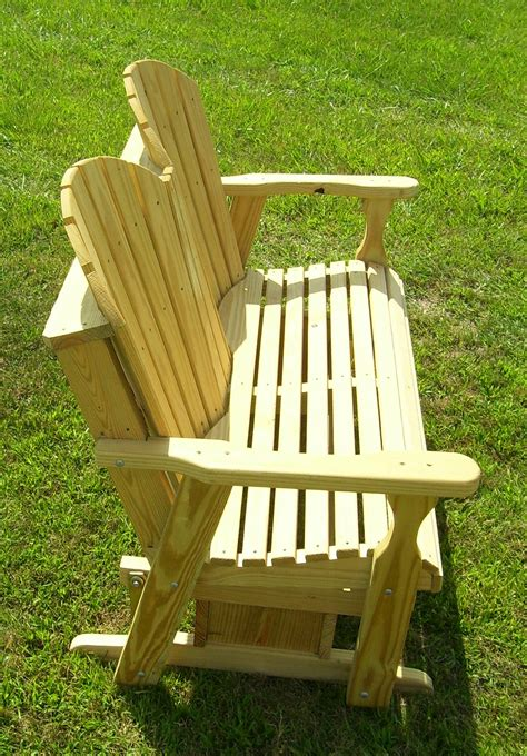 wood glider bench treated wood adirondack glider bench backyard world