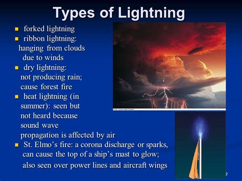 types of lighting in chapter 10 thunderstorms and tornadoes ppt