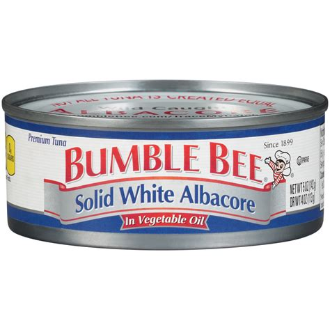 solid white albacore tuna in bumble bee tuna