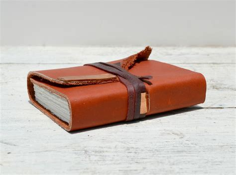 Handmade Leather Bound Journals - crafted leather bound handmade journal watercolor