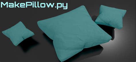 add on makepillow py pillow generator blendernation