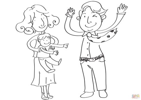 coloring pages happy family happy family coloring page free printable coloring pages