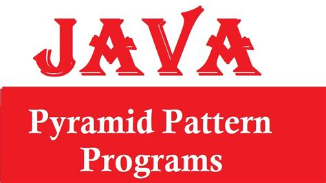 how to print pyramid pattern in java program exle java67 java program for print numbers in pyramid shape using for