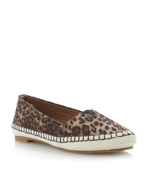 espadrille flat shoes dune lespy canvas flat espadrille sandals in brown