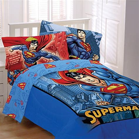 superman bed set superman twin full comforter from dc comics from buy buy