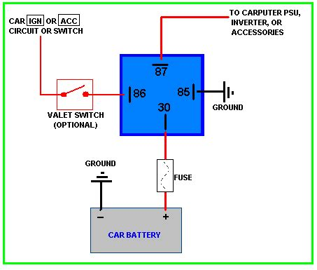 relay s voltage drop s current flow grounds and