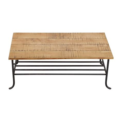 wrought iron and wood coffee table shop coffee tables