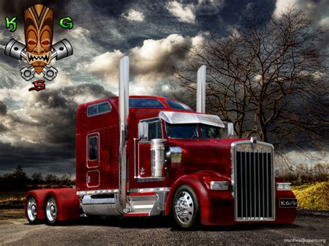 kw semi truck trucks wallpapers kenworth truck wallpapers