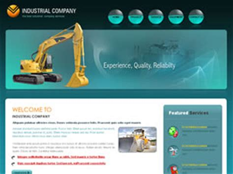 Home Design Website Free Industrial Company Free Website Template Free Css
