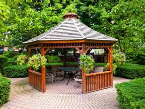Backyard Patio With Gazebo by Patio Gazebos Hgtv