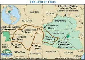 Indianz com gt geography mapping the long cherokee nation trail of