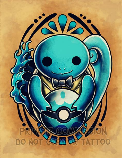 squirtle tattoo squirtle commission by retkikosmos on deviantart
