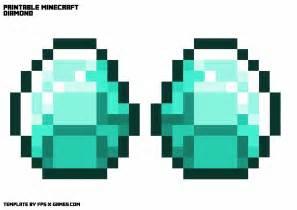 printable minecraft diamond necklace template