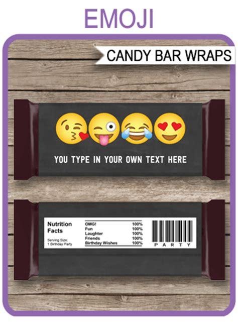 emoji hershey candy bar wrappers emoji theme personalized